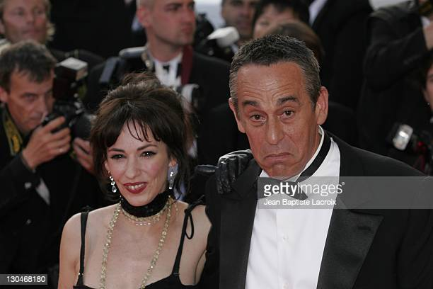 Beatrice Ardisson and Thierry Ardisson during 2007 Cannes Film Festival Palme D'Or Arrivals at Palais des Festivals in Cannes France