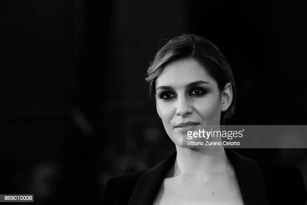 Beatrice Arnera walks a red carpet for 'Addio Fottuti Musi Verdi' during the 12th Rome Film Fest at Auditorium Parco Della Musica on November 1 2017...