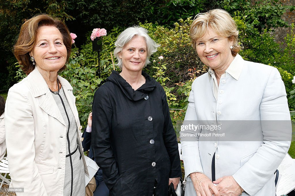 Beatrice Bernascon, Miss Francois Fillon and Austria Ambassador <a gi-track='captionPersonalityLinkClicked' href=/galleries/search?phrase=Ursula+Plassnik&family=editorial&specificpeople=553106 ng-click='$event.stopPropagation()'>Ursula Plassnik</a>, attend the Frank Sorbier show as part of Paris Fashion Week Haute-Couture Fall/Winter 2013-2014 at Hotel De Bezenval on July 3, 2013 in Paris, France.