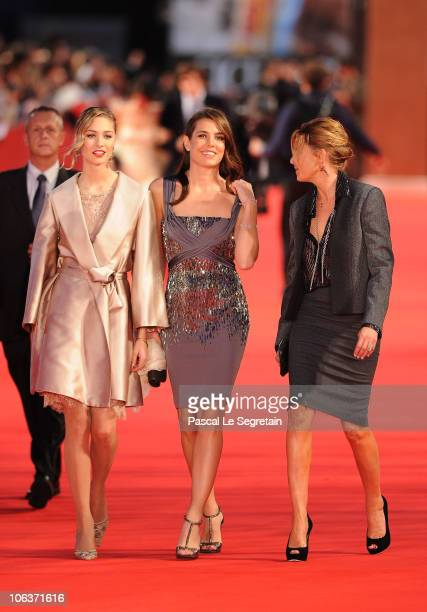 Beatrice Borromeo and Charlotte Casiraghi attend the 'La dolce vita' world restoration premiere during The 5th International Rome Film Festival at...