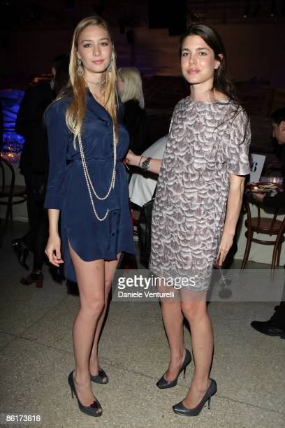 Beatrice Borromeo and Charlotte Casiraghi attend the Stella McCartney and Established Sons cocktail party held at the La Pelota as part of the 2009...