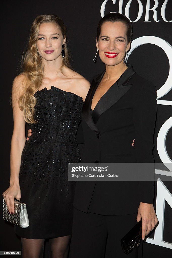 Beatrice Borromeo and Roberta Armani attend the Giorgio Armani Prive show as part of Paris Fashion Week Haute Couture Spring/Summer 2014, at Palais de tokyo in Paris.