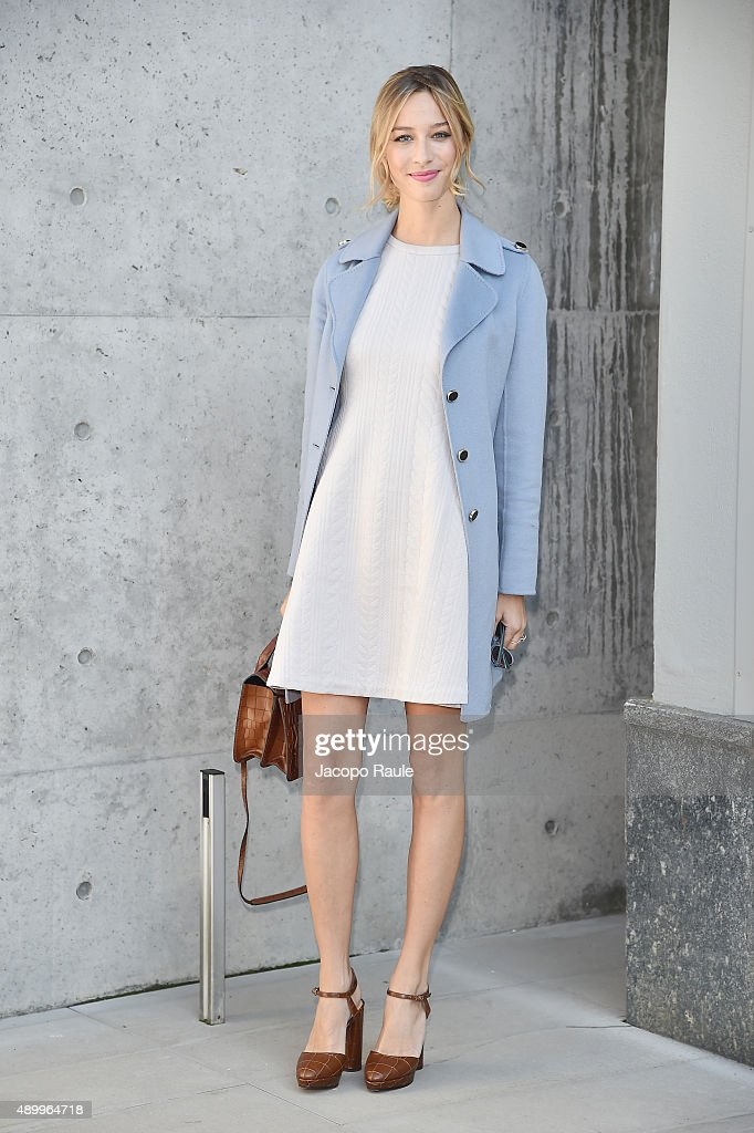 Beatrice Borromeo arrives at the Emporio Armani show during the Milan Fashion Week Spring/Summer 2016 on September 25, 2015 in Milan, Italy.