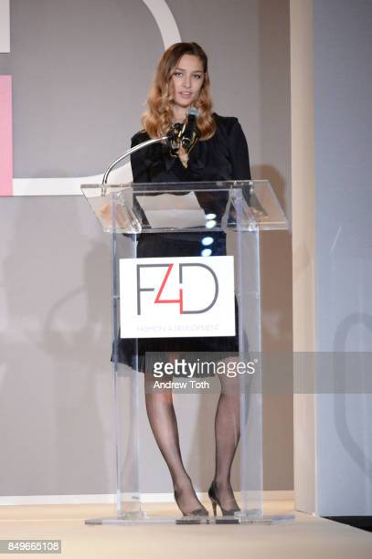 Beatrice Borromeo Casiraghi speaks onstage during Fashion 4 Development's 7th Annual First Ladies Luncheon at The Pierre Hotel on September 19 2017...