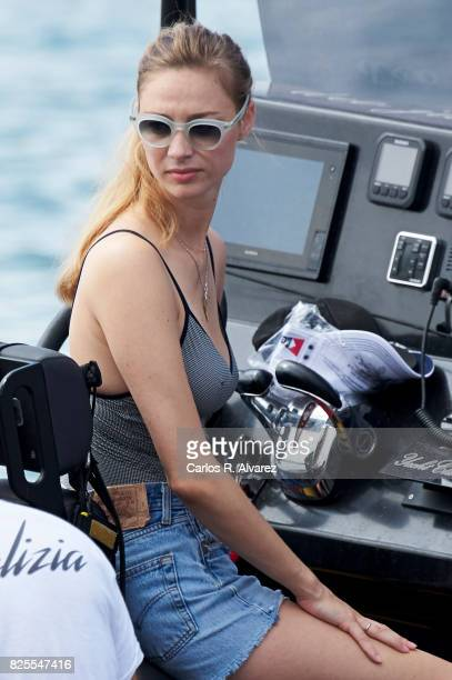 Beatrice Borromeo is seen during the 36th Copa Del Rey Mafre Sailing Cup on August 2 2017 in Palma de Mallorca Spain