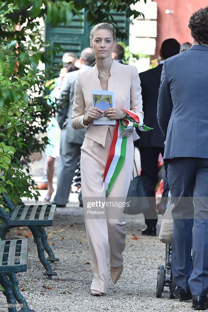 Beatrice Borromeo is seen on July 26, 2014 in Santa Margherita Ligure, Italy.