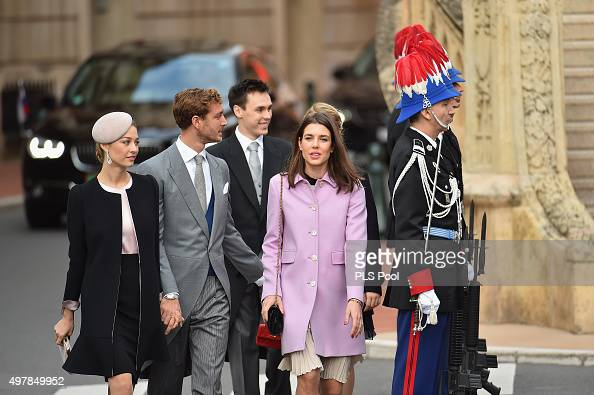 Beatrice Borromeo Pierre CasiraghiLouis Ducruet and Charlotte Casiraghi attend a mass at the Cathedral of Monaco during the official ceremonies for...