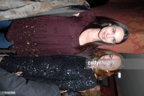Beatrice Dalle and Gabriella Cortese attend the Gabriella Cortese's Antik Batik 15th Anniversary at The Castel Club on November 22 2007 in Paris...