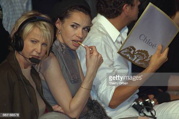 Beatrice Dalle attended the fashion show