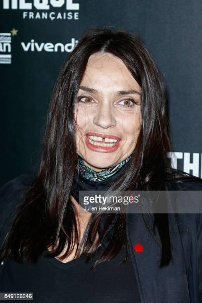Beatrice Dalle attends 'Happy End' Paris Premiere at la cinematheque on September 18 2017 in Paris France