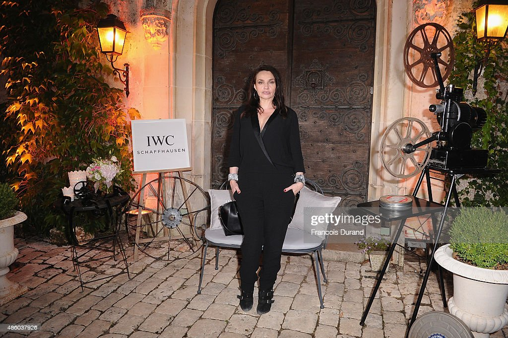 Beatrice Dalle attends the closing dinner hosted by IWC during the Festival du Film Francophone d'Angouleme on August 30, Angouleme, France.