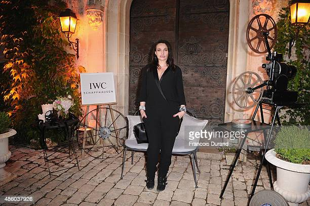 Beatrice Dalle attends the closing dinner hosted by IWC during the Festival du Film Francophone d'Angouleme on August 30 Angouleme France