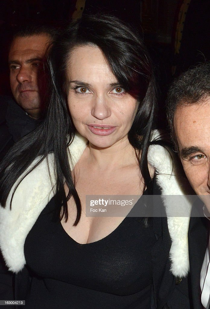 Beatrice Dalle attends the 'Don't Tell My Booker' Supports La Croix Rouge Dinner - PFW F/W 2013 at the Hotel Intercontinental on March 2nd, 2013 in Paris, France.