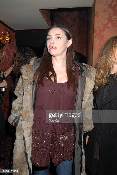 Beatrice Dalle attends the Gabriella Cortese's Antik Batik 15th Anniversary at The Castel Club on November 22 2007 in Paris France