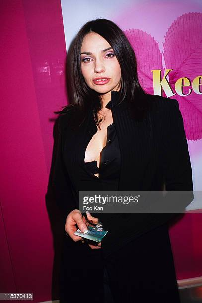 Beatrice Dalle during Keep Lucky Cocktail Party Hosted By Marionnaud at Marionnaud Champs Elysee in Paris France