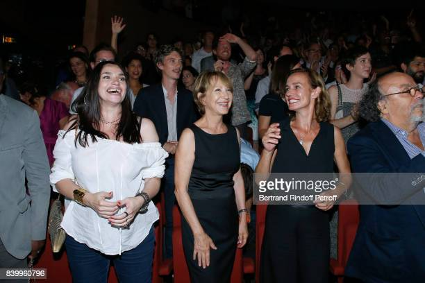 Beatrice Dalle Nathalie Baye and Sandrine Bonnaire attend the 10th Angouleme FrenchSpeaking Film Festival Closing Ceremony on August 27 2017 in...