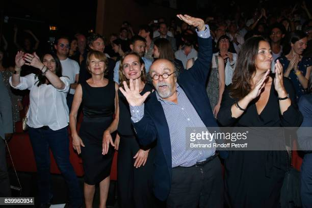 Beatrice Dalle Nathalie Baye Sandrine Bonnaire JeanMichel Ribes and Cristiana Reali attend the 10th Angouleme FrenchSpeaking Film Festival Closing...