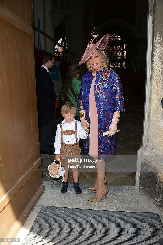 Beatrice de Orleans attends the wedding of Prince Francois von Orleans and Theresa von Einsiedel on July 26, 2014 in Straubing, Germany.