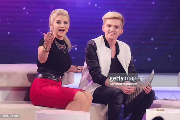Beatrice Egli and Jonas Gross perform on stage during the taping of the tv show 'Beatrice Egli Die grosse Show der Traeume' on May 20 2016 in Berlin...
