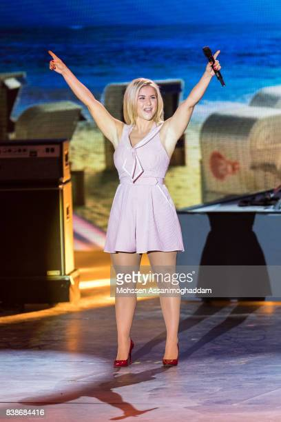 Beatrice Egli attends 'Das Grosse SommerHitFestival 2017' at Timmendorfer Strand on August 24 2017 at Timmendorfer Strand Germany
