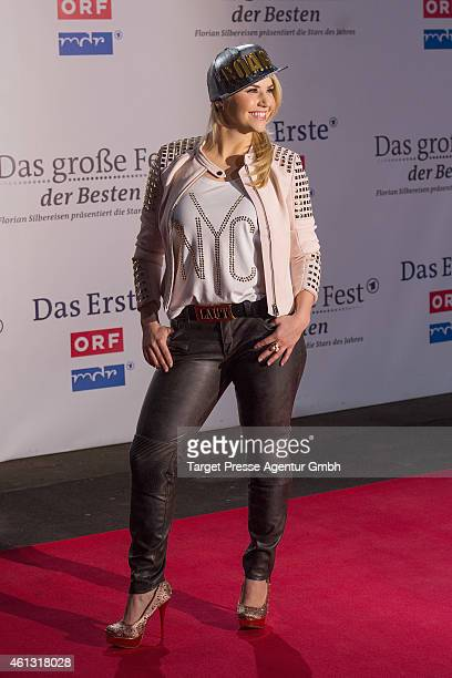 Beatrice Egli attends the 'Das grosse Fest der Besten' tv show at Velodrom on January 10 2015 in Berlin Germany