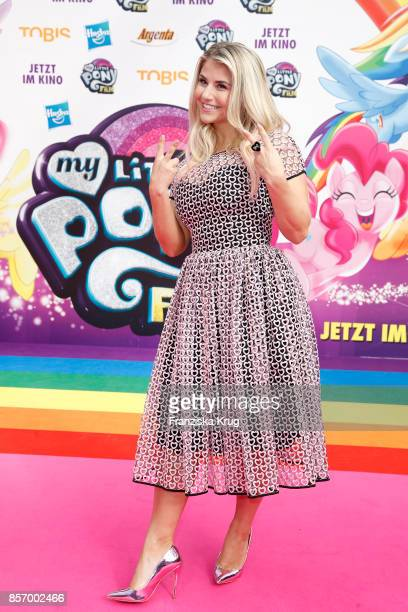 Beatrice Egli attends the 'My little Pony' Premiere at Zoo Palast on October 3 2017 in Berlin Germany