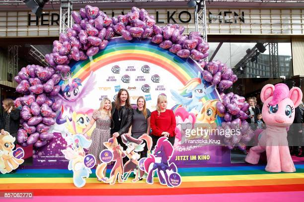 Beatrice Egli Gil Ofarim Anne Wuensche and Maite Kelly attend the 'My little Pony' Premiere at Zoo Palast on October 3 2017 in Berlin Germany