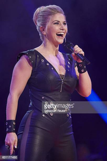 Beatrice Egli is seen on stage at the 'Das grosse Fest der Besten' tv show at Velodrom on January 7 2017 in Berlin Germany