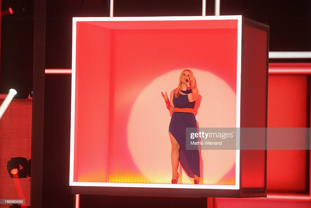 Beatrice Egli performs at the 'Deutschland sucht den Superstar' Finals on May 11, 2013 in Cologne, Germany.