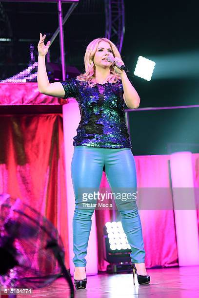 Beatrice Egli performs at the 'Die Schlagernacht des Jahres' on March 12 2016 in Hannover Germany