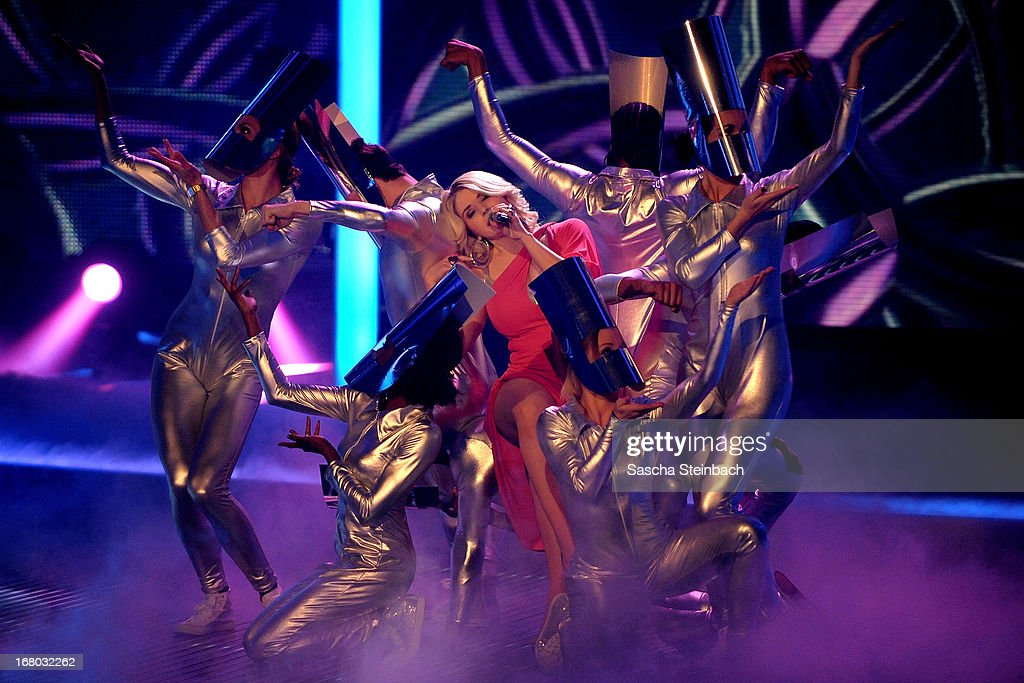 Beatrice Egli performs during the rehearsal for the semi final of 'Deutschland Sucht Den Superstar' at Coloneum on May 4, 2013 in Cologne, Germany.
