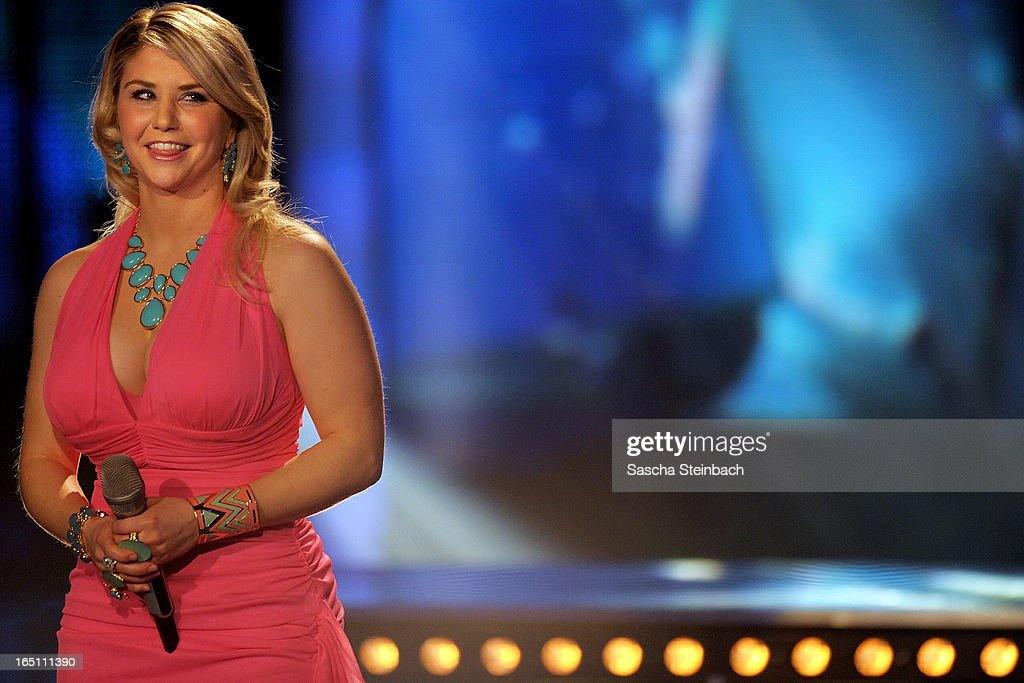 Beatrice Egli performs during the rehearsal of the third 'Deutschland sucht den Superstar' Show at Coloneum on March 30, 2013 in Cologne, Germany.