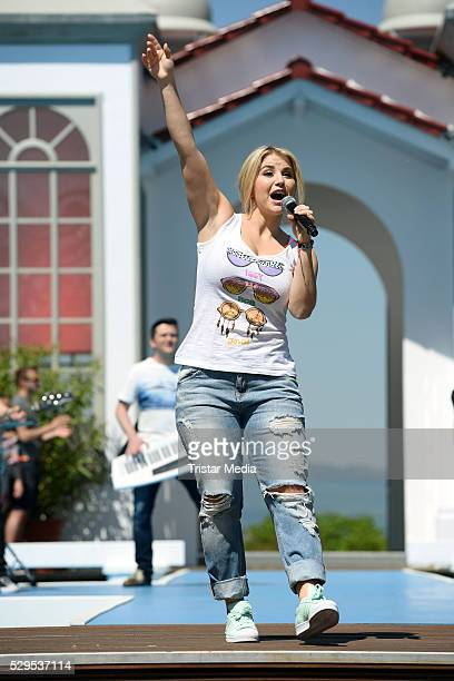 Beatrice Egli performs the ZDFFernsehgarten on MAY 08 2016 in Mainz Germany