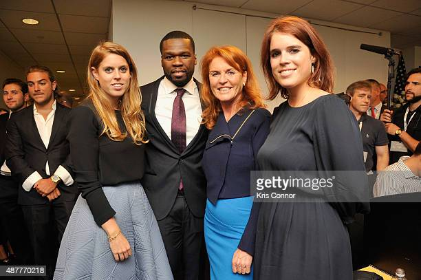 Beatrice Ferguson Curtis '50 Cent' Jackson Sarah Ferguson Duchess of York and Eugenie Ferguson attends Annual Charity Day hosted by Cantor Fitzgerald...