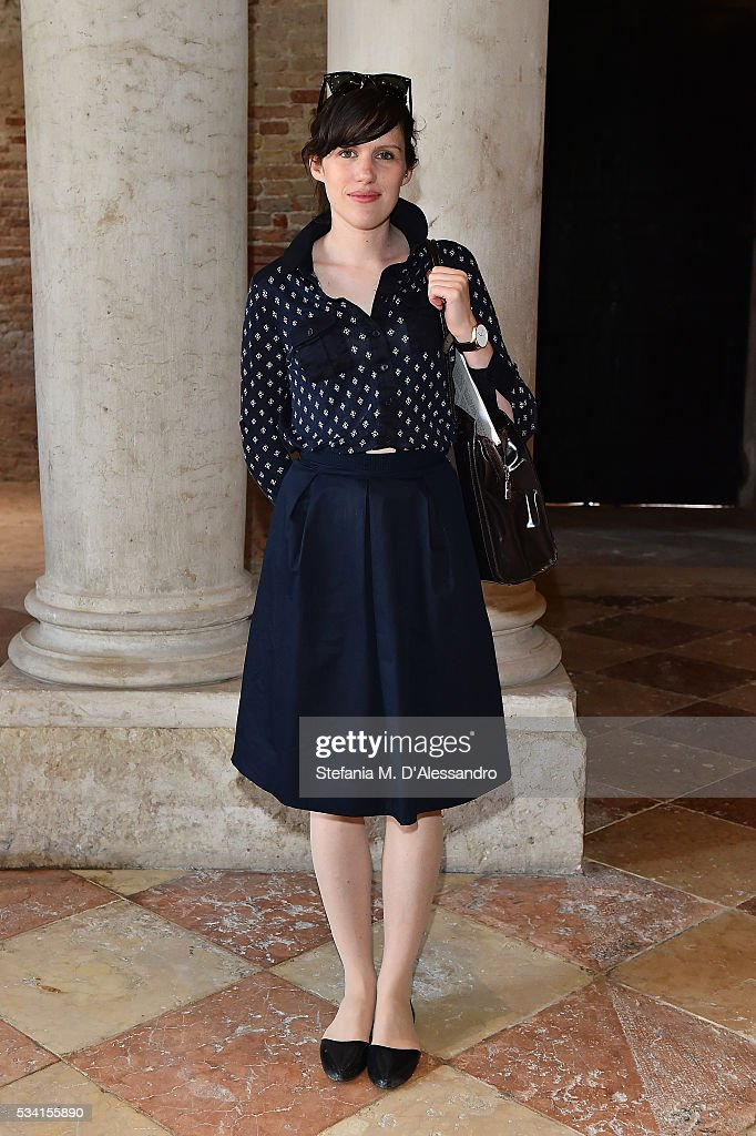 Beatrice Galilee attends the private view and lunch of 'Belligerent Eyes' at Fondazione Prada at Ca' Corner della Regina on May 25, 2016 in Venice, Italy.