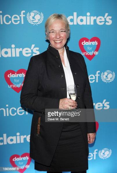 Beatrice Lafon President of Claire's European division arrives at a party celebrating the partnership between international fashion retailer Claire's...