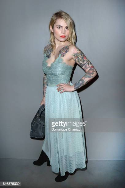 Beatrice Martin AKA Coeur de pirate attends the HM Studio show as part of the Paris Fashion Week on March 1 2017 in Paris France