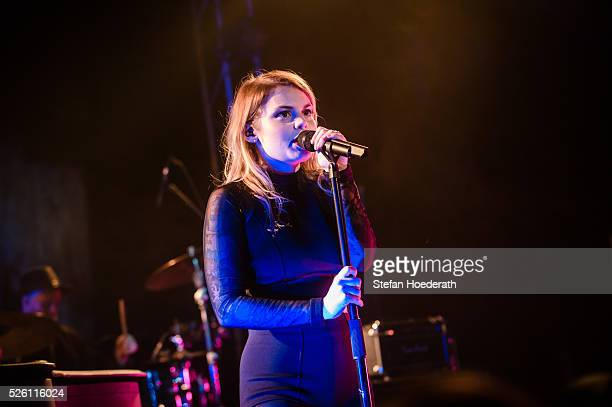 Beatrice Martin aka Coeur De Pirate performs live on stage during a concert at Postbahnhof on April 29 2016 in Berlin Germany