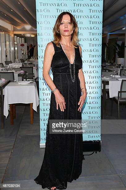 Beatrice Mosca attends a cocktail reception for 'The Wait' hosted by Tiffany Co during the 72nd Venice Film Festival at Terrazza Biennale on...