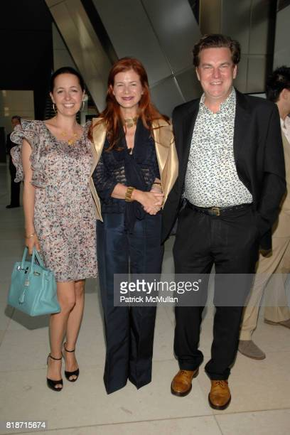 Beatrice Novobaczky Lady Elena Foster and Steve Abramowitz attend Champagne Reception for the New York Premiere of 'HOW MUCH DOES YOUR BUILDING WEIGH...