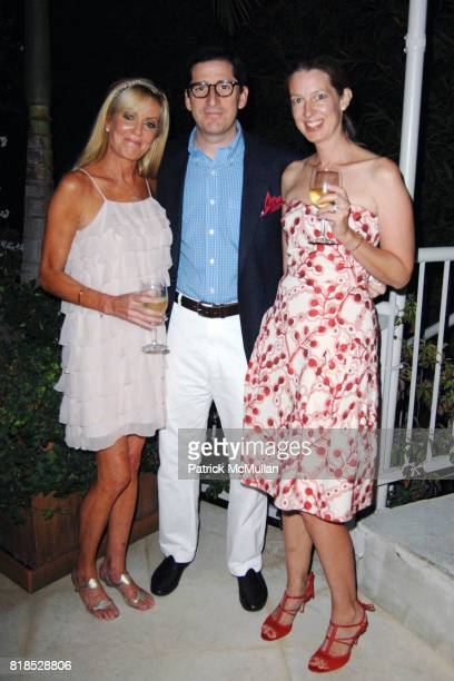 Beatrice Reed Al Uzielli and Kim Uzielli attend Alex Hitz' Summer Dinner Party at a Private Residence on August 18th 2010 in Hollywood Hills...