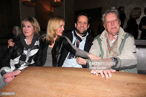 Beatrice Richter and daughter Judith Richter and her halfbrother Patrick Wosin and their father Heinz Baumann attend the NDF After Work Presse...