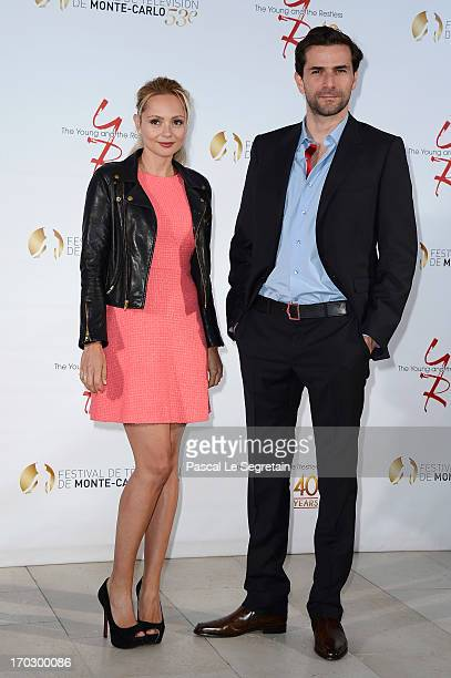 Beatrice Rosen and Gregory Fitoussi attend 'The Young and the Restless' party marking the 40th anniversary of the TV series at MonteCarlo Bay Resort...