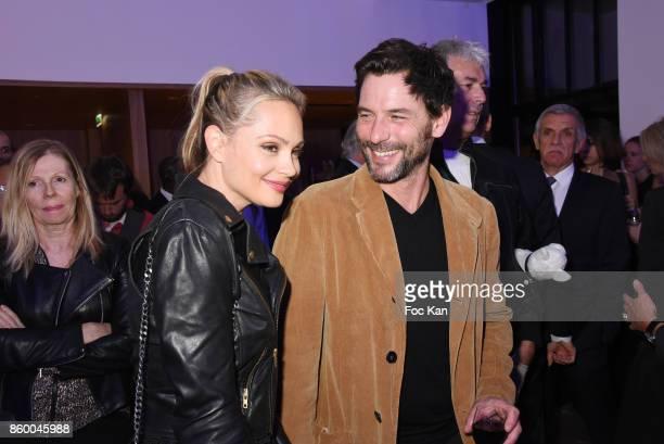 Beatrice Rosen and Sagamore Stevenin attend Jaguar EPace Launch Party at Studio Acacias on October 10 2017 in Paris France