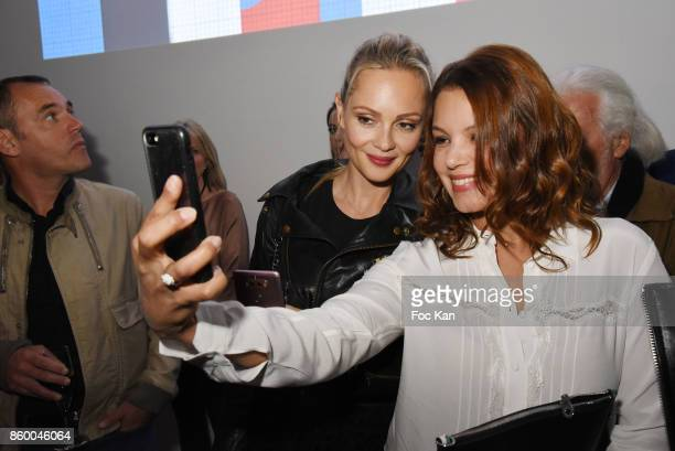 Beatrice Rosen and Severine Ferrer attend Jaguar EPace Launch Party at Studio Acacias on October 10 2017 in Paris France