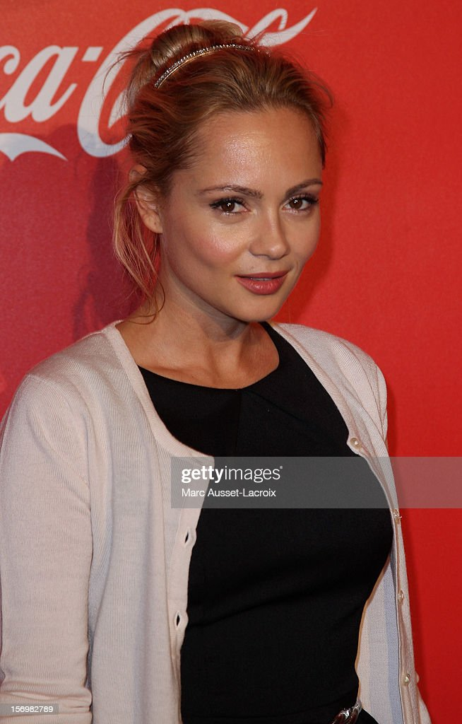 Beatrice Rosen poses at the Coca Cola Christmas windows inauguration at Le Showcase on November 26, 2012 in Paris, France.