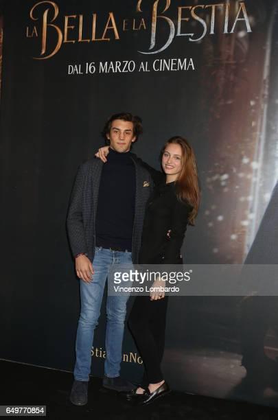 Beatrice Vendramin and Ludovico Dannone attend 'La Bella E La Bestia' premiere on March 8 2017 in Milan Italy