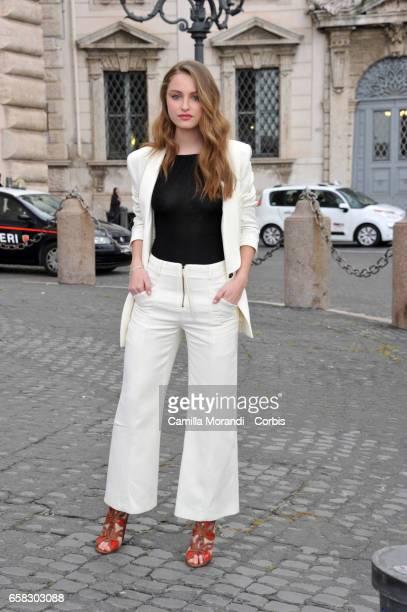 Beatrice Vendramin arrives at the 61 David Di Donatello nominees presentation at Palazzo del Quirinale on March 27 2017 in Rome Italy