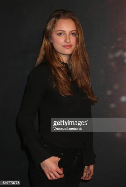 Beatrice Vendramin attends 'La Bella E La Bestia' premiere on March 8 2017 in Milan Italy