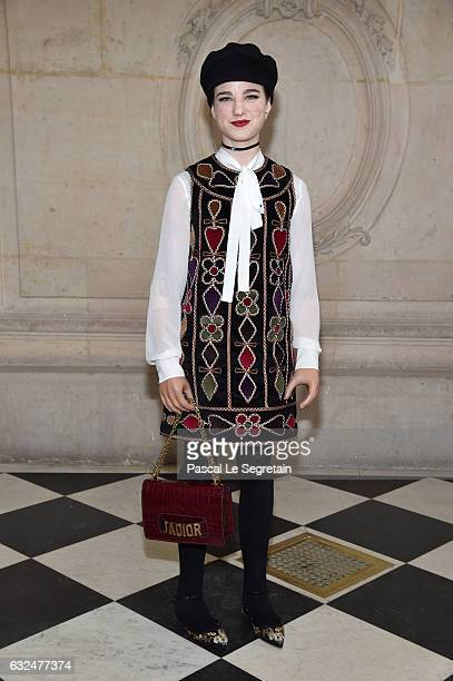 Beatrice Vio attends the Christian Dior Haute Couture Spring Summer 2017 show as part of Paris Fashion Week on January 23 2017 in Paris France